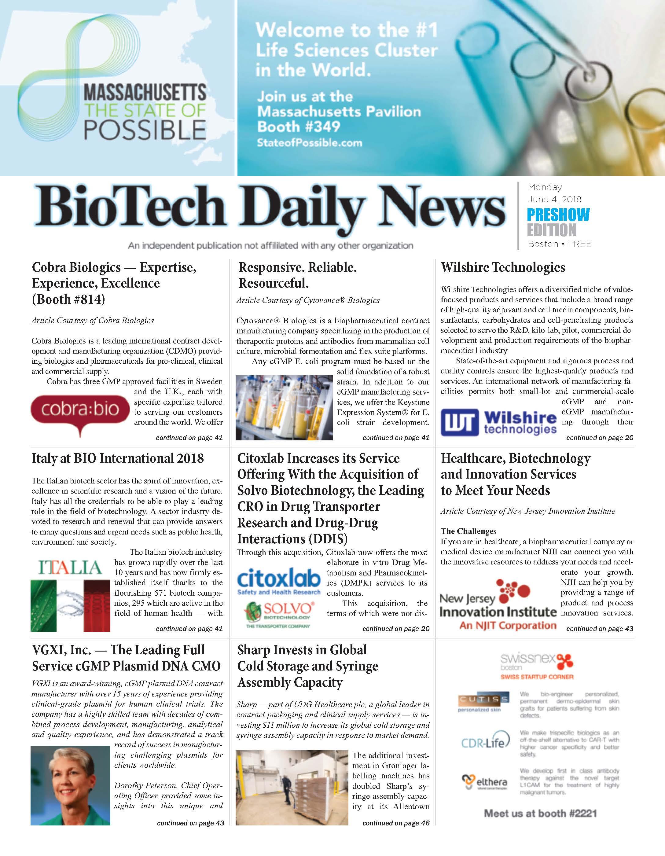 BioTech Daily news