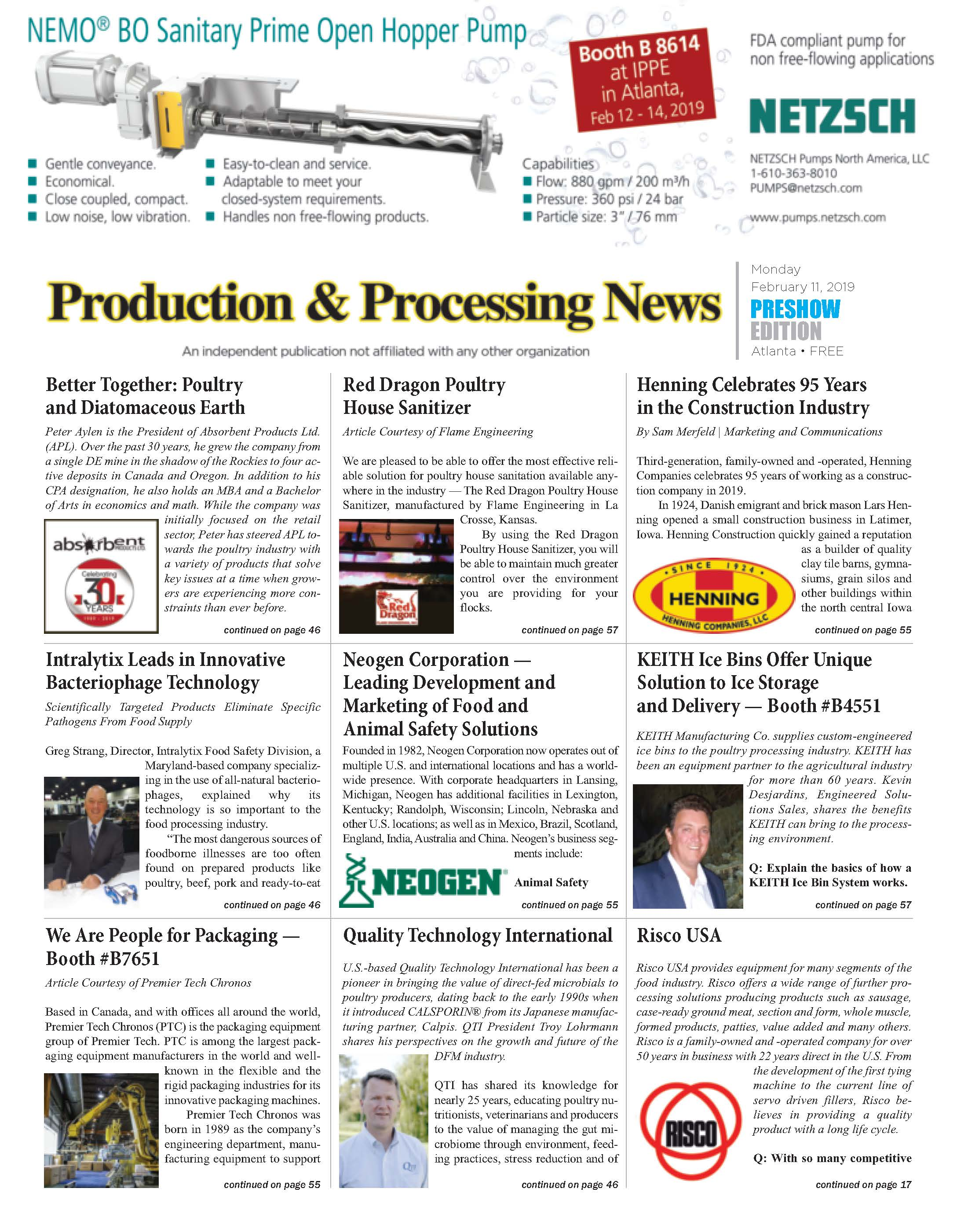 Production and Processing News