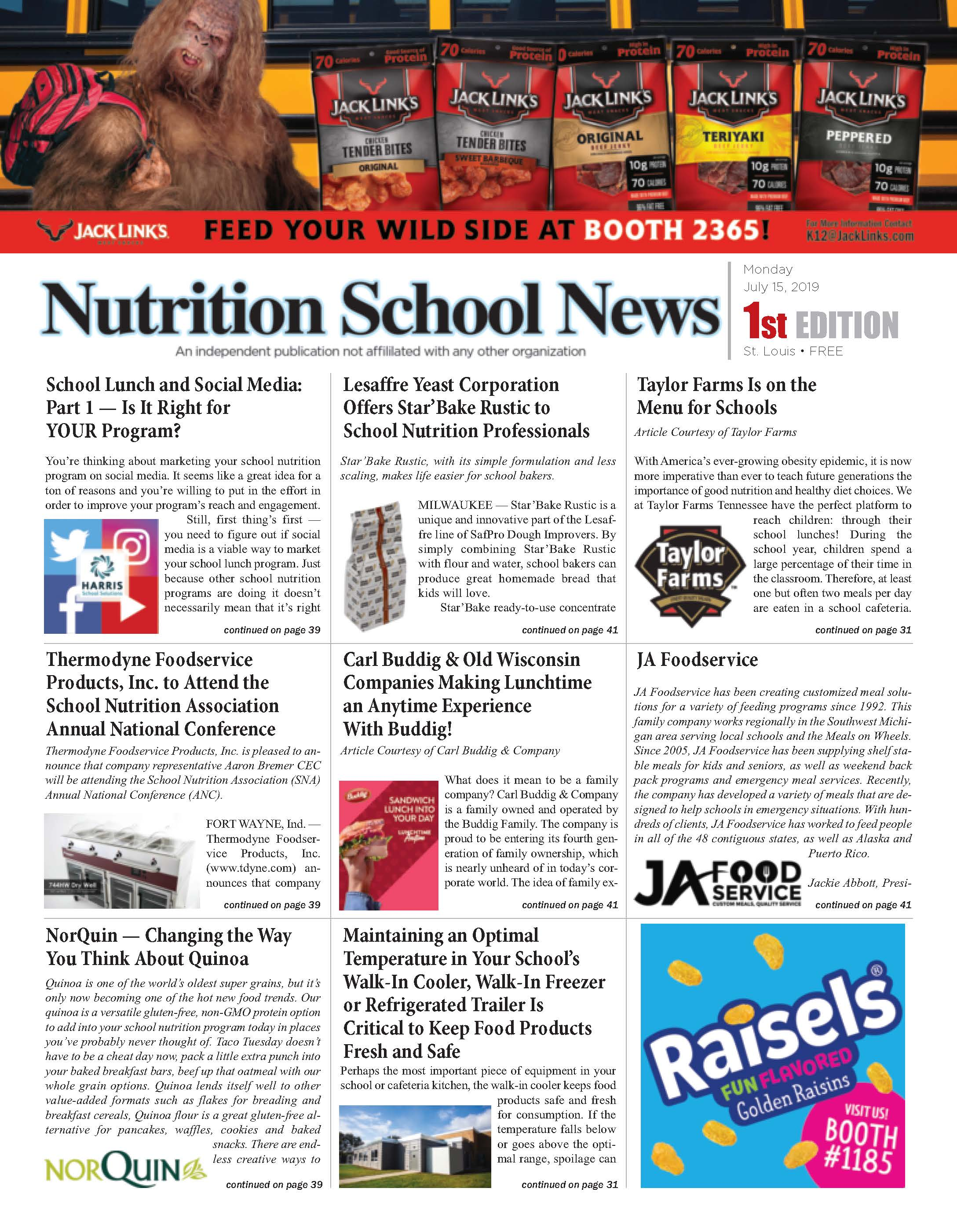 Nutrition School News