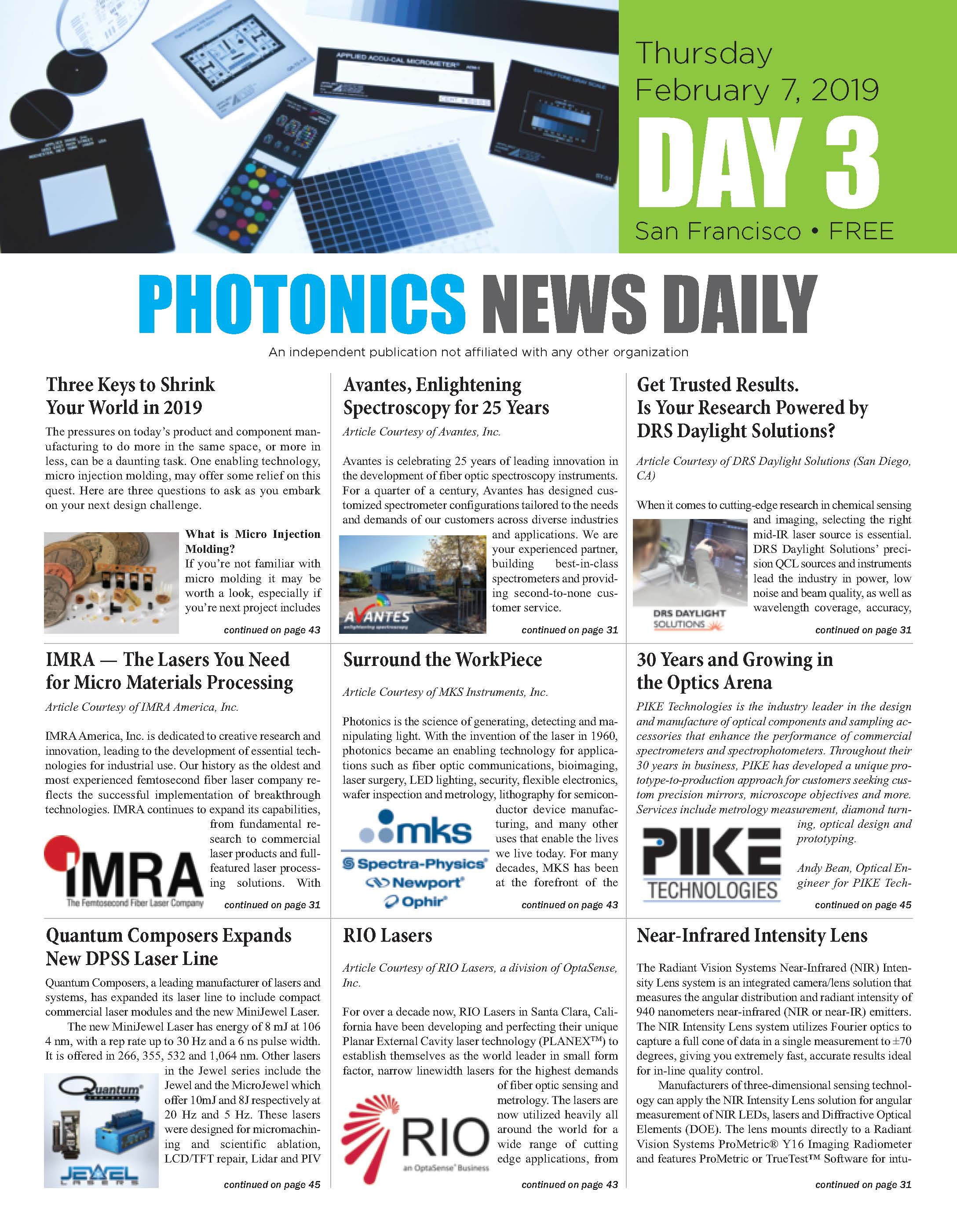 Photonics News Daily