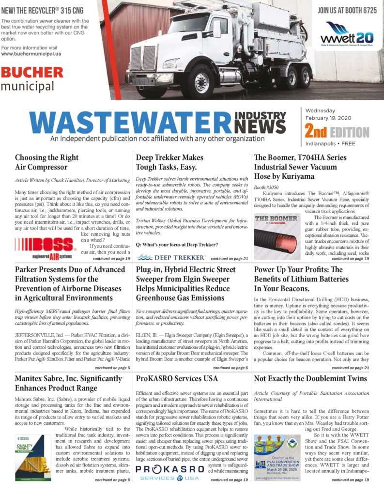 Wastewater Industry News