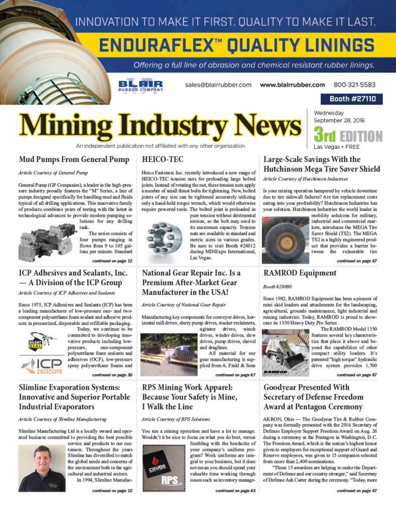 Mining Industry News 2016