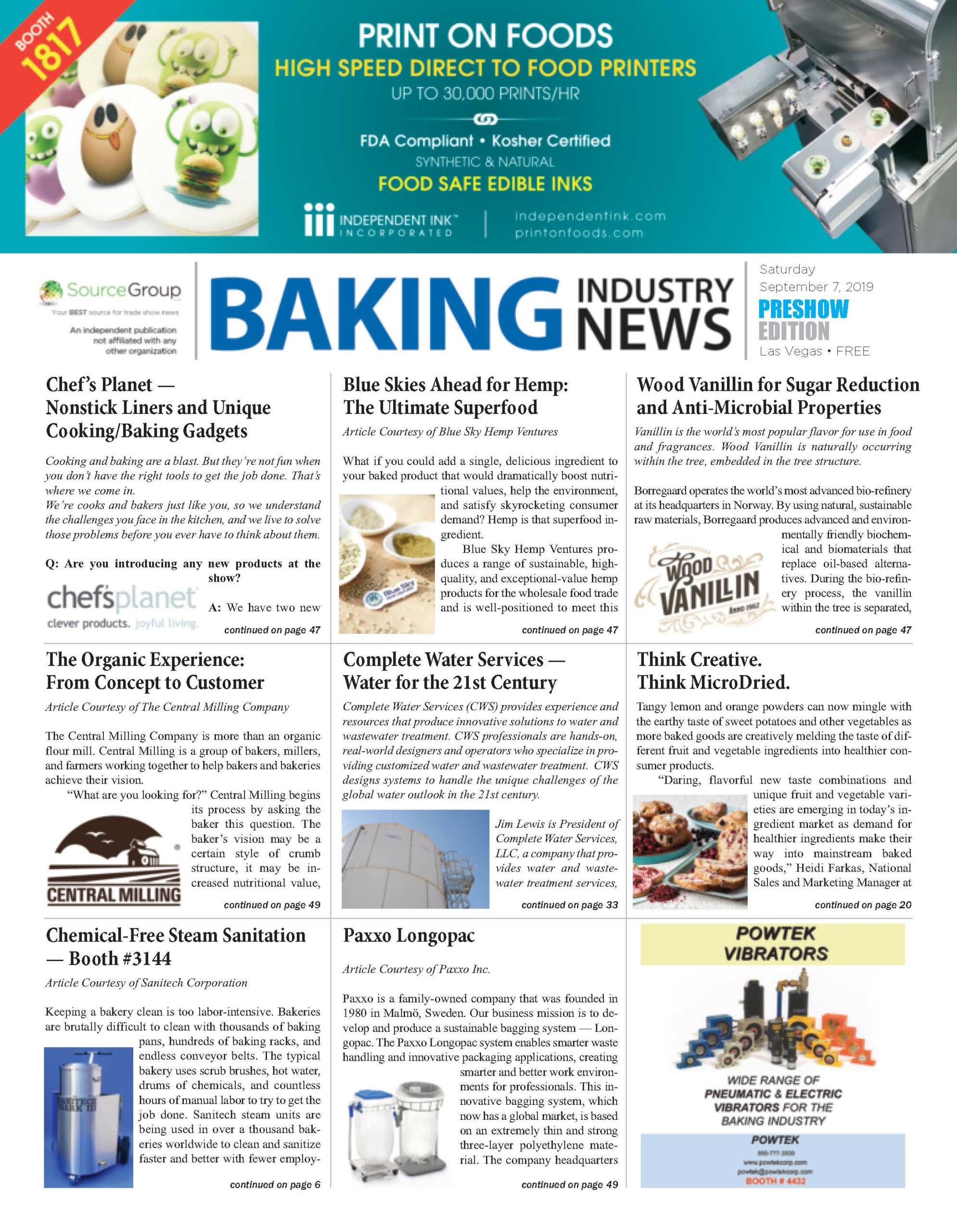 Baking Industry News
