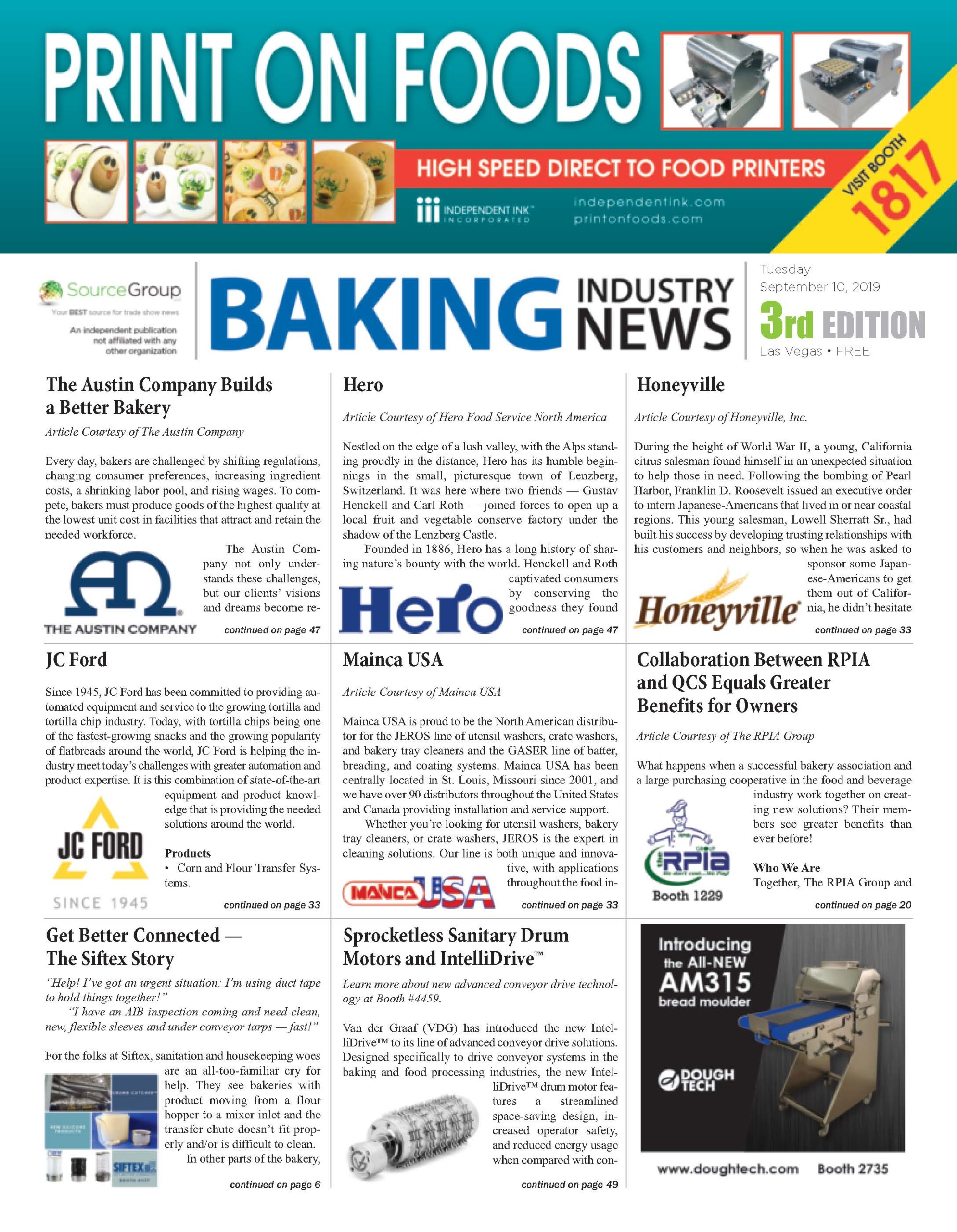 Baking Industry News